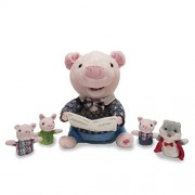 "Cuddle Barn Animated Animal ""Preston- The Story Telling Pig""- With 4 Finger Puppets- Recites the 3 Little Pig Story"
