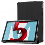 Bolsa Folio Tri-Fold para Huawei MediaPad M5 10/M5 10 (Pro) - Preto