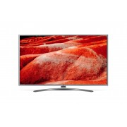 Televizor UHD LG 43UM7600PLB, 108 cm, Smart TV, 4K Ultra HD, Smart ThinQ, Procesor Quad Core, Bluetooth 5.0, Wi-Fi, Sunet stereo, Clasa energetica A, Argintiu/Negru