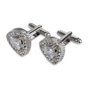 Manschettknappar Clear Gemstone (1 par)