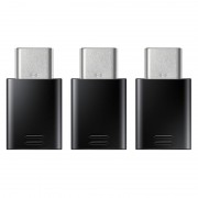 Samsung EE-GN930KB MicroUSB / USB Type-C Adapter - Black - 3 Pack