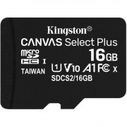 Card Memorie MicroSD Canvas Select class 10 UHS-I 100mb/s 16GB KINGSTON