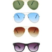 Dannilo Aviator, Wayfarer Sunglasses(Brown, Blue, Black, Green)
