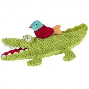 Maison Chic Alex The Musical Alligator With Colorful Bird Plush