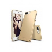 Husa Protectie Spate Ringke Slim Royal Gold pentru Apple iPhone 7 Plus si folie protectie display