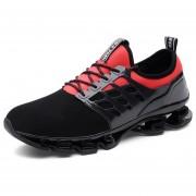 Zapatos Deportivos Amortiguación Para Unisex TK05 - Negro Y Rojo