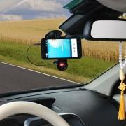 EB Reproductor De MP3 Multifuncional Para El Coche Soporte De Navegación Del Teléfono Móvil Clip Manos Libres-negro