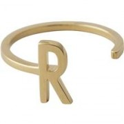 Design Letters Ring Gold A-Z R
