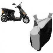 Kaaz Premium SILVER with BLACK Bike Body Cover For Hero Electric Bikes Electric E-Sprint