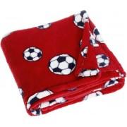 Playshoes fleece babydeken voetbal rood