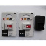 2x Sony NP-BG1 Battery BC-CSGE Charger Fr W200 T100 W80 W30 W35 N1 N2