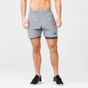 Myprotein Power Shorts - L - Grey Marl