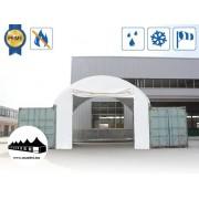 Elülső fal 8m széles konténer fedéshez / 720g/m2 PVC / Fehér ()