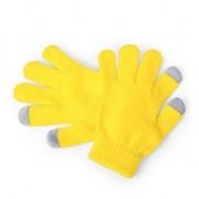 Merkloos Touchscreen handschoenen kind geel