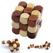 Puzzel kubus houten Cube denkpuzzel