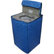 Glassiano Blue Colored Washing Machine Cover For LG T8067TEELR Fully Automatic Top Load 7 Kg
