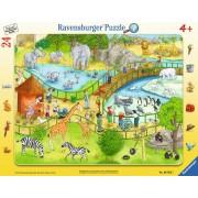 Puzzle Ravensburger - Distractie La Zoo, 24 piese (06583)