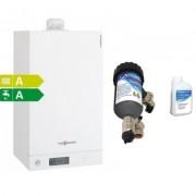Centrala termica Viessmann Vitodens 100-W 35 kw combi cu filtru antimagnetita Salus MD22A