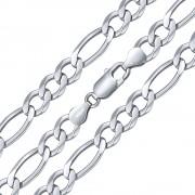 Silvego Stříbrný masivní náhrdelník FIGARO 8,5 mm - rhodiovaný - TTT850NFIG