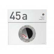 Radius Design individuelle Beschriftung für Letterman Briefkasten Hausnummer und drei Namen Gravur