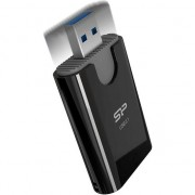Card reader silicon power Putere Combo USB 3.1 cititor de carduri microSD si SD, negru