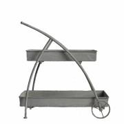 Jardinière chariot en fer 30x63x63 cm