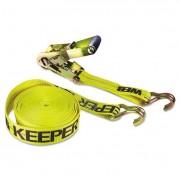 Ratchet Tie-Down Strap, 2in X 27ft, 10000lb Cap, Double-J Hook Ends