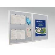 Gablota zewnętrzna dwudrzwiowa EPI F 200 x 100 cm EPI F 02 2-drzwiowa gablota 200x100 cm