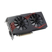 Asus EX-RX570-O4G Radeon RX 570 Graphic Card - 1.26 GHz Core - 1.27 GHz Boost Clock - 4 GB GDDR5 - Dual Slot Space Required