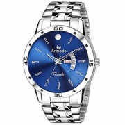 Armado AR-107-BLU Day and Date Analogue Watch for Men