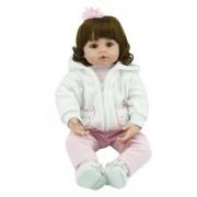 Dollhouse 55 Cm Silicone Vinyle Bébé Reborn Poupées Adorable Chucky Main Enfants Princesse Toys Enfants Bonecas Bjd Poupée Reborn