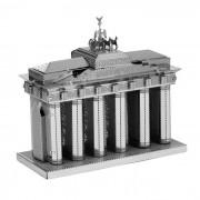 rompecabezas de estilo de la puerta blankenburg 3D DIY monta el juguete modelo - plata