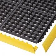 Certeo Bodenplatten-Stecksystem, feuerresistent - LxBxH 910 x 910 x 19 mm - gelocht