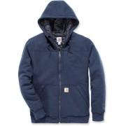 Carhartt Rockland Quilt-Lined Full-Zip Hooded Sweatshirt Blue M