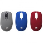HP 2.4GHz Wireless USB Mouse Z3600 with Interchangeable Covers (Grey/Blue/Red)