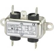 Filtru de retea 250 V/AC Yunpen, YK01T1, 2 x 3,7 mH, 1 A
