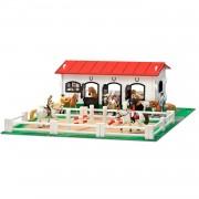 Micki Stall med paddock för leksakshästar från Schleich