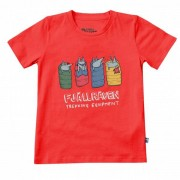 Fjällräven Kids Sleeping Foxes T-Shirt T-shirt (122, rosso)