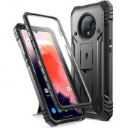 Poetic Revolution Series case Designed for OnePlus 7T Pro (Protective cover and built in Screen Protector, Black.
