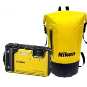 Nikon Aparat Coolpix W300 Żółty zestaw Holiday (wodoszczelny plecak)