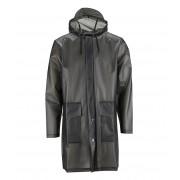 Rains Regenjassen Hooded Coat Zwart