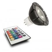 GARDEN LIGHTS LED MR16 RGB 3 WATT GU 5.3 MET AFSTANDSBEDIENING