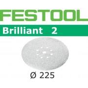 Festool STF BR2 Slippapper 225mm, 8-hålat, 25-pack P320