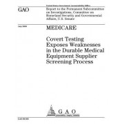 Medicare: Covert Testing Exposes Weaknesses in the Durable Medical Equipment Supplier Screening Process