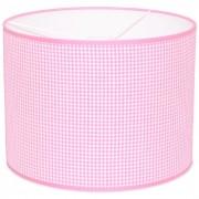 Taftan Hanglamp Kleine Ruit Roze-diameter 35 cm