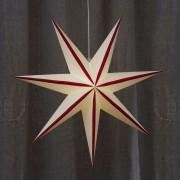 Randi star, paper, white and red