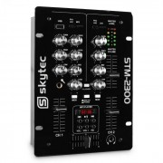 Skytec STM-2300 2-Kanal-Mixer USB MP3 EQ