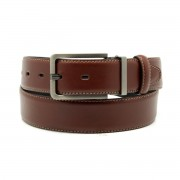 Men leather belt Willsoor 8532 in brown color