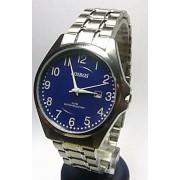 Pánské elegantní stříbrné ocelové hodinky Foibos 3883.5 3ATM s modrým číselníkemhodinky Foibos 3883.5