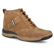 Footista Mens Tan Lace-up Lace-up Boot